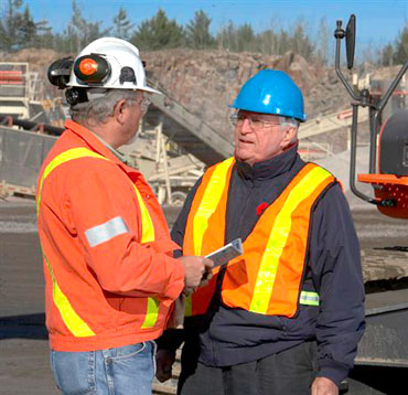 Workplace Safety North Health and Safety Specialist at on-site consultation