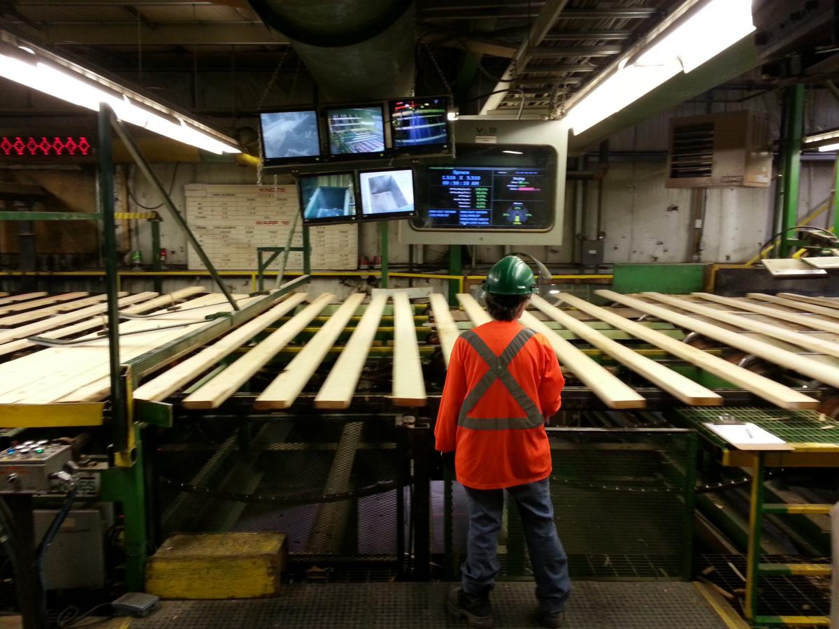 Workplace Safety Tour Of Ontario Sawmill Workplace