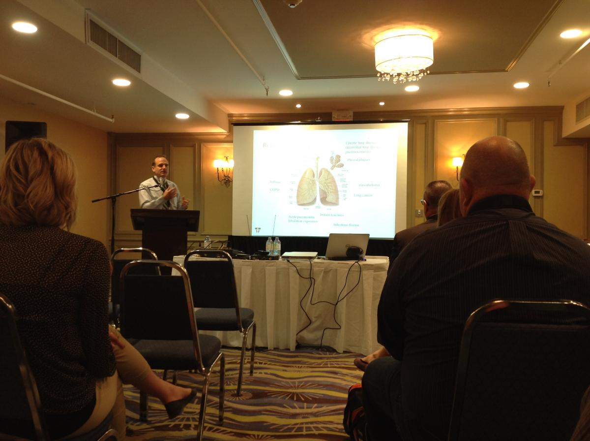 2015 Mining conference presentation on occupational lung disease