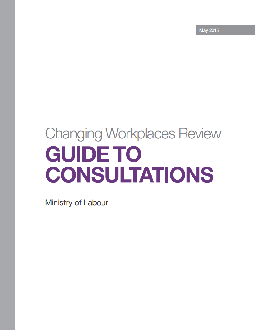 Cover of Guide to Consultations document
