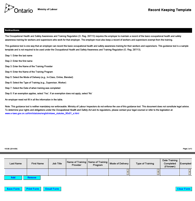 Templates health and safety plan template ohs annual plan for Cdm health and safety file template