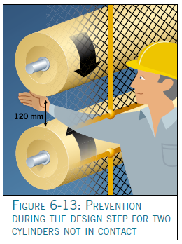 Illustration of worker reaching through machine guard