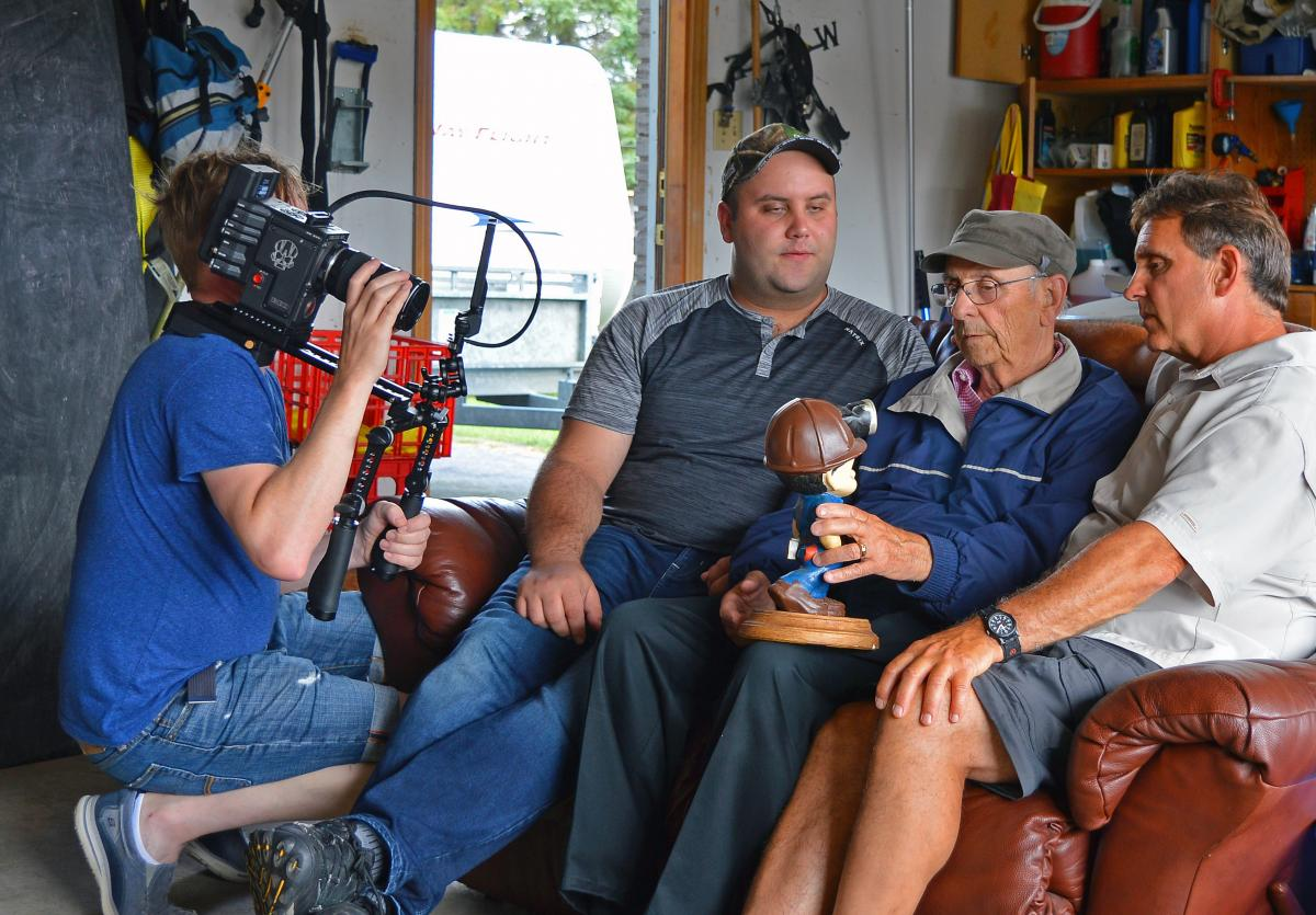 Mine rescue family being interviewed