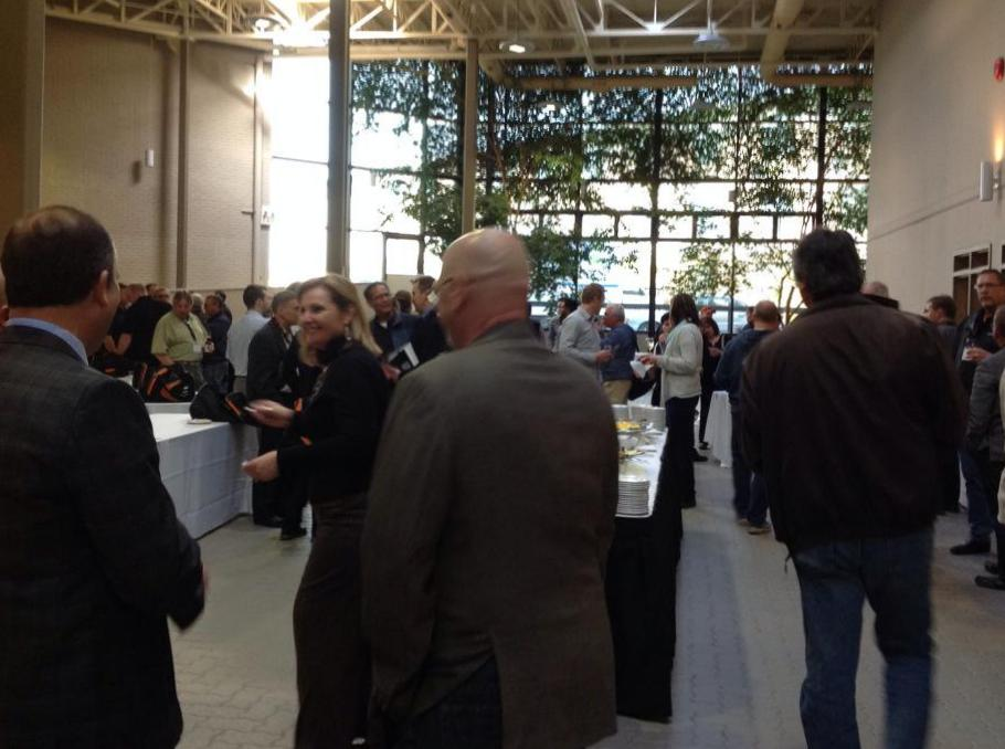 2015 Mining conference opening reception in solarium