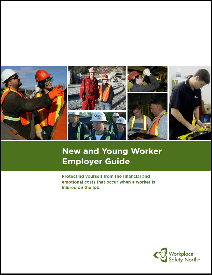 Cover of New and Young Worker Guide for employers
