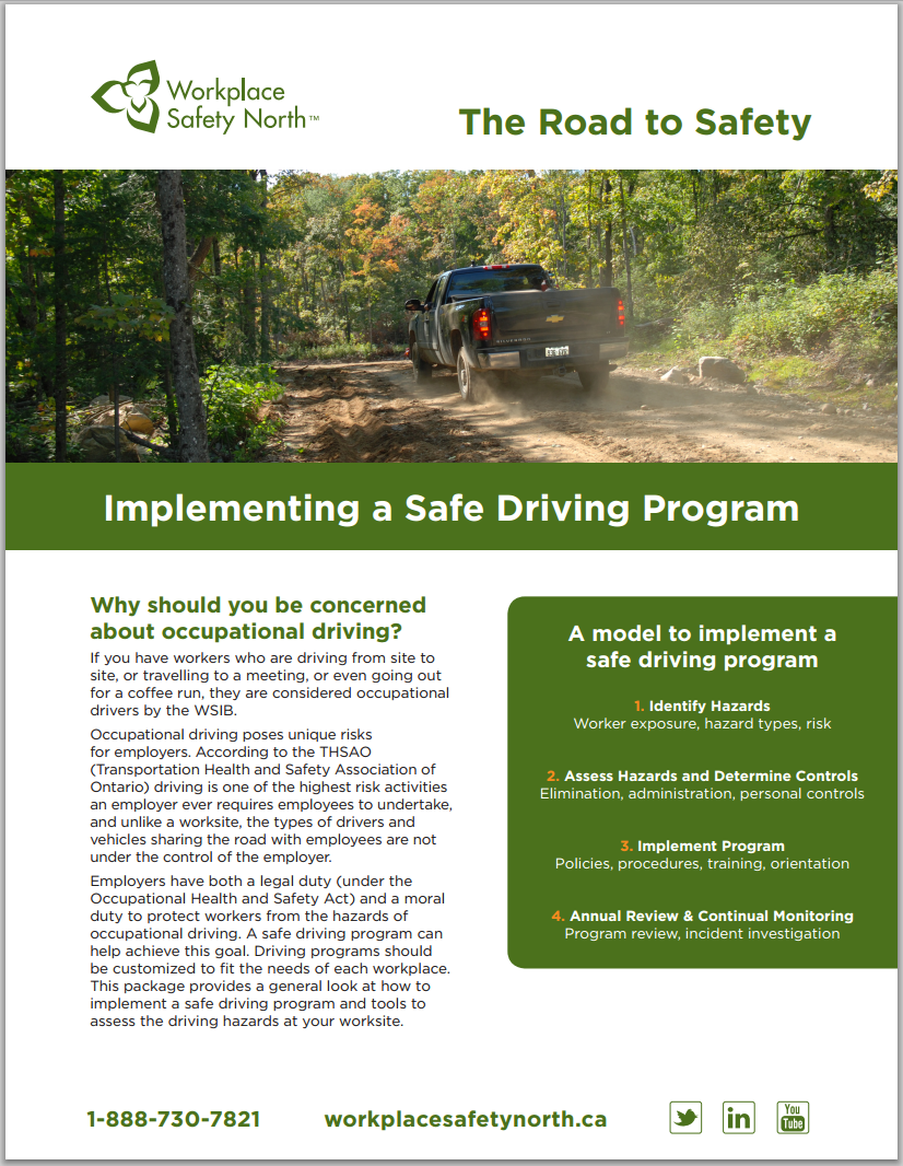 Cover of Road to Safety Safe Driving Program brochure