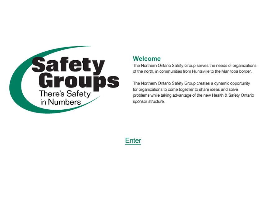 Safety Groups webpage thumbnail