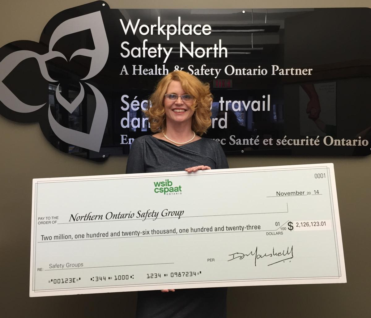 Safety group rebate cheque