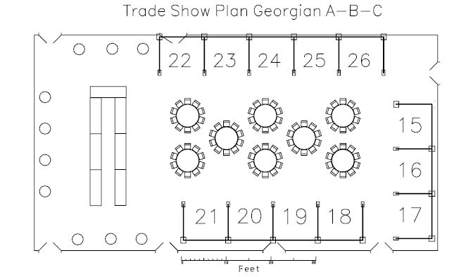 Trade show floor plan for Trade show floor plan