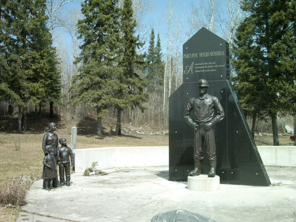 Photo of Timmins miners' memorial
