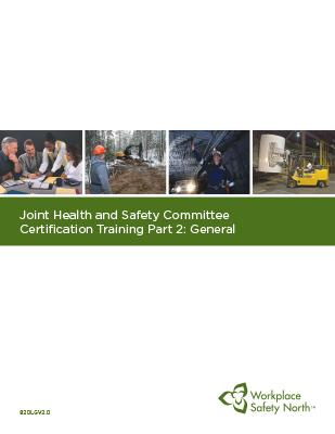 Cover for JHSC Part 2 (General) Learner Material