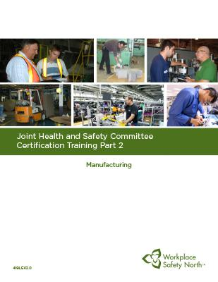 Cover for JHSC Part 2 (Manufacturing) Learner Material