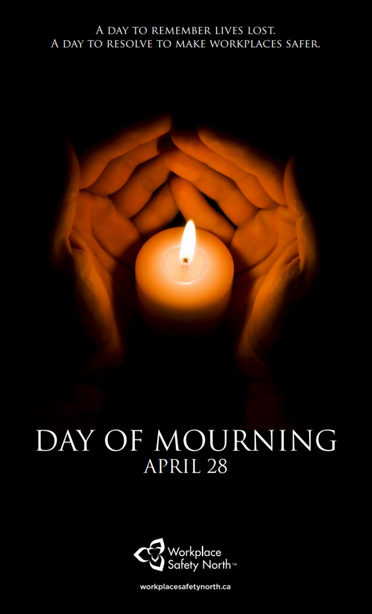 Day of Mourning poster with candle