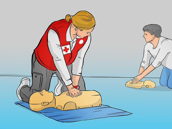 First Aid CPR training illustration