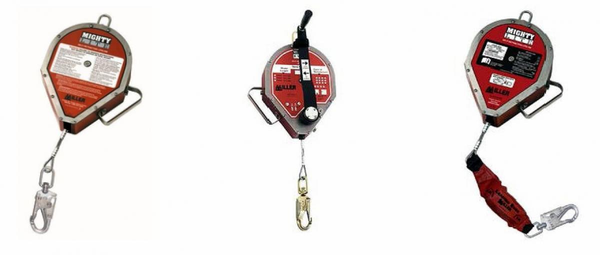 Honeywell self-retracting lifelines used by workers for fall protection