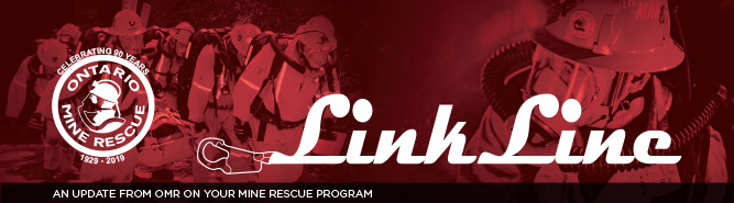 Ontario Mine Rescue Link Line newsletter masthead