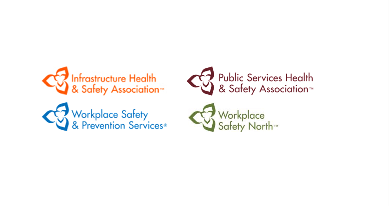 Four logos of Ontario health and safety associations