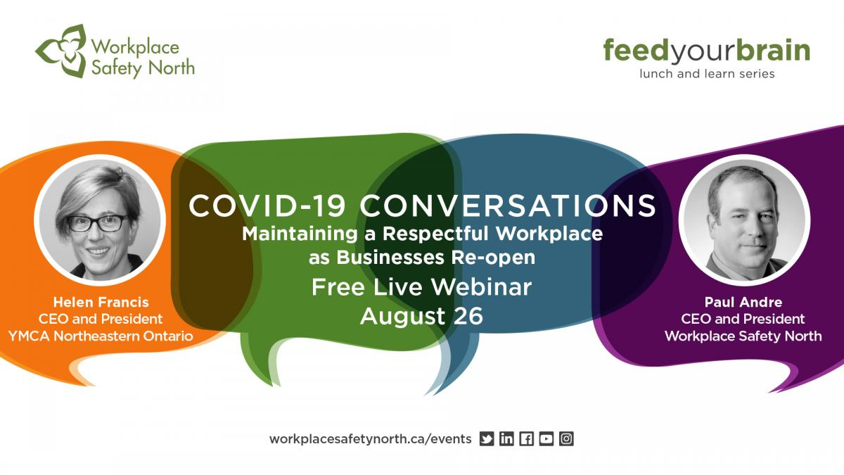 Webinar graphic for Respectful Workplaces during COVID-19