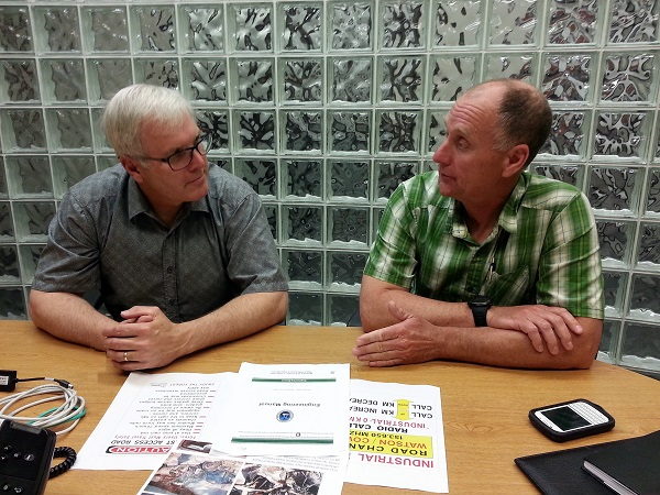 Tom Welton and Steve Bros discuss forest road safety