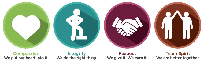 Workplace Safety North values icons
