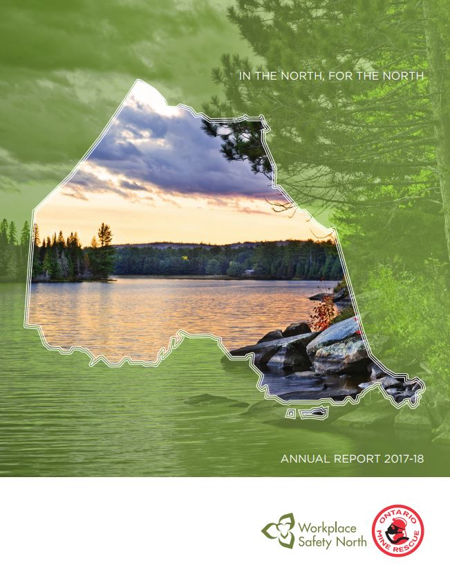 Workplace Safety North Annual Report 2017-18 cover