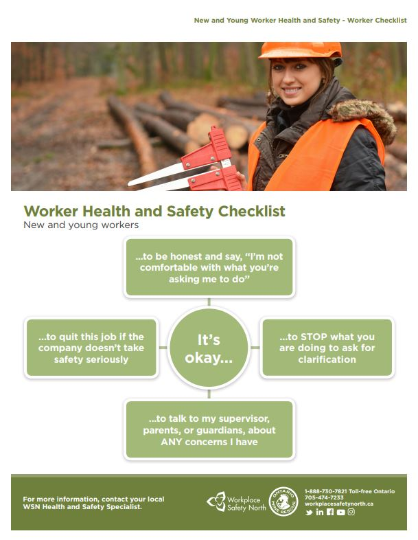 Cover of New and Young Worker Health and Safety - Worker Checklist
